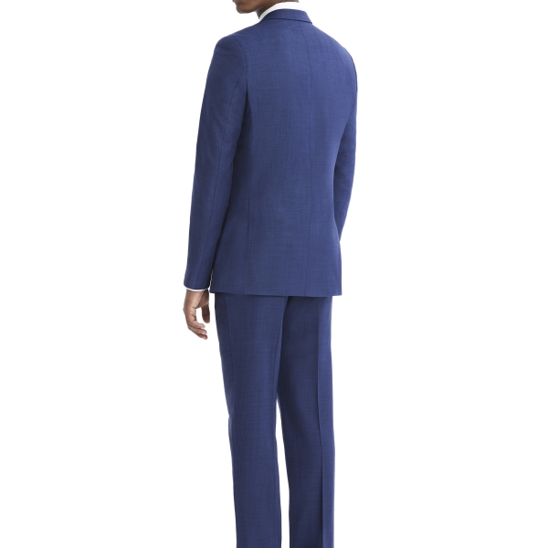 Modern Blue Suit Rental with White Shirt and Black Tie by After Six – Back – alt