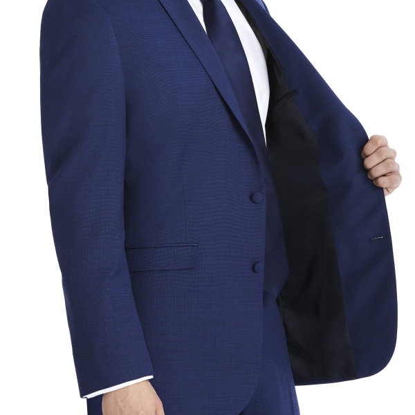 Modern Dark Navy Suit Rental with White Shirt and Navy Tie by After Six – Inside Jacket