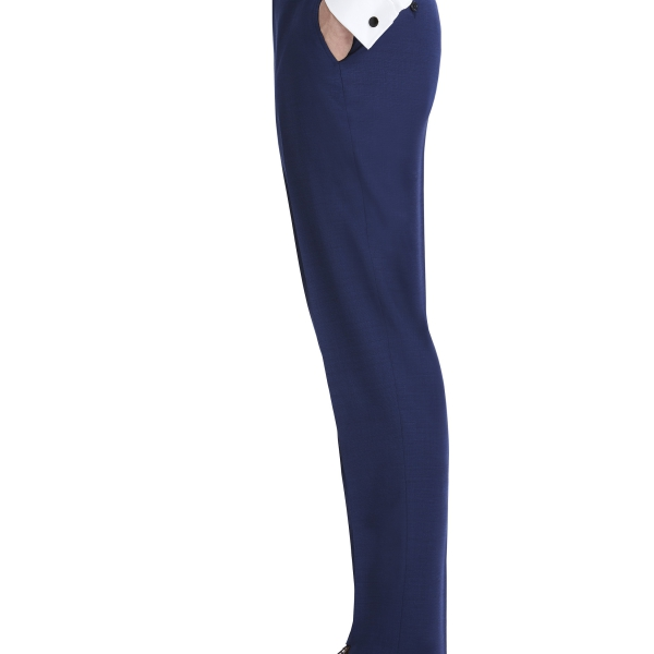 Modern Dark Navy Suit Rental with White Shirt and Navy Tie by After Six – Suit Pants – Back