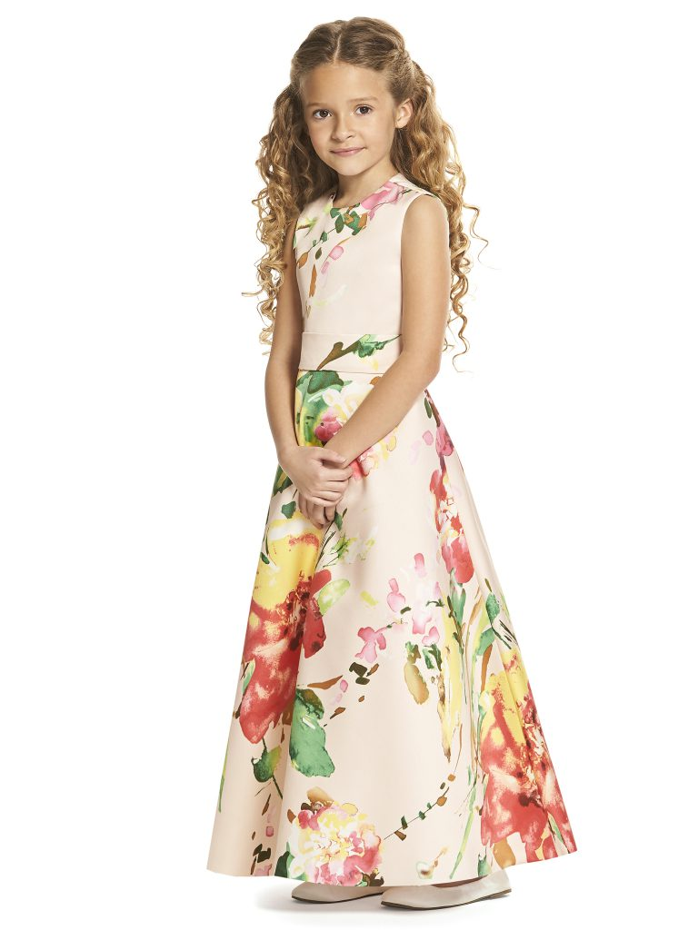 Gallery the dessy group flutter social pale pink flower girl dress with bright flower print dessy girl front mightylinksfo