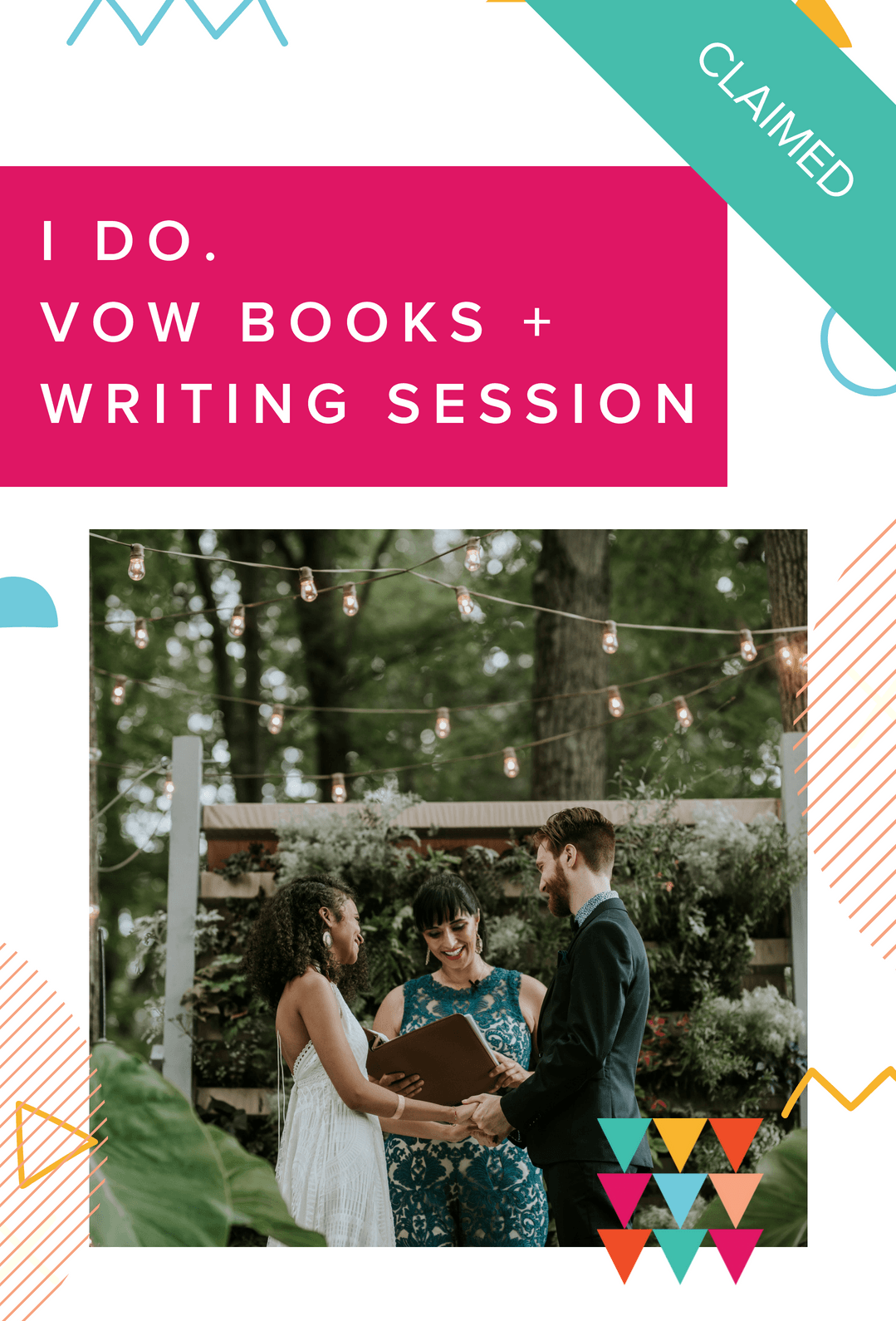 Spring into Wedding Planning Vow Books and Vow Writing Session Alisa Tongg claimed