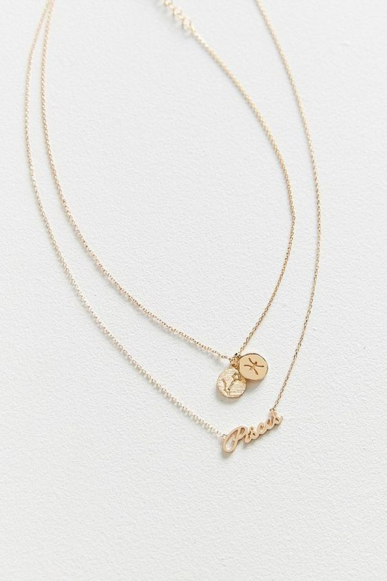 Zodiac layering charm necklace from Urban Outfitters