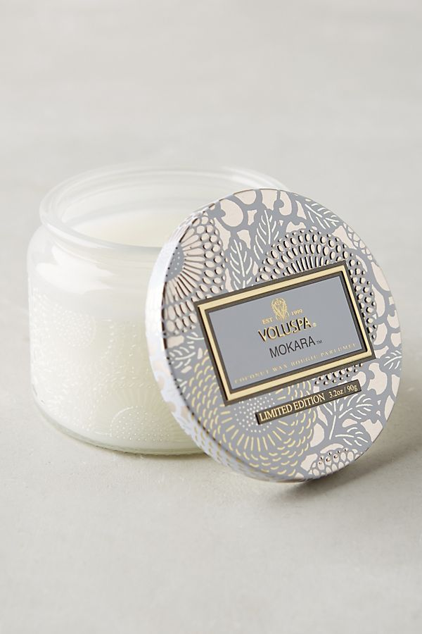 White Voluspa Mini Candle