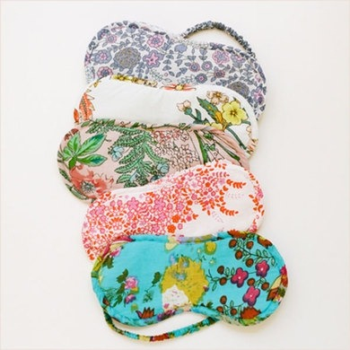 Plum Pretty Sugar eyemasks in signature floral patterns
