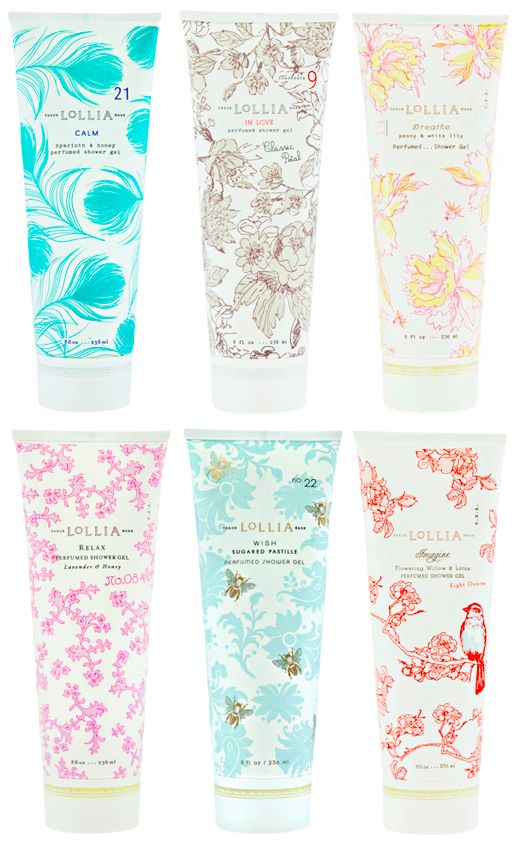 Lollia hand lotion varieties in pretty tubes