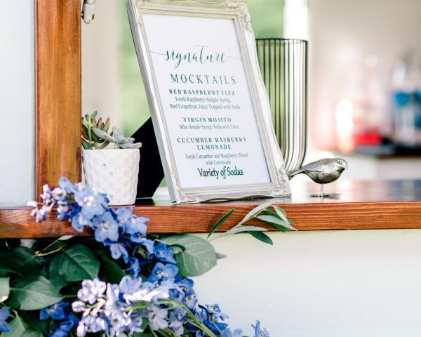 Framed Signature Mocktail List