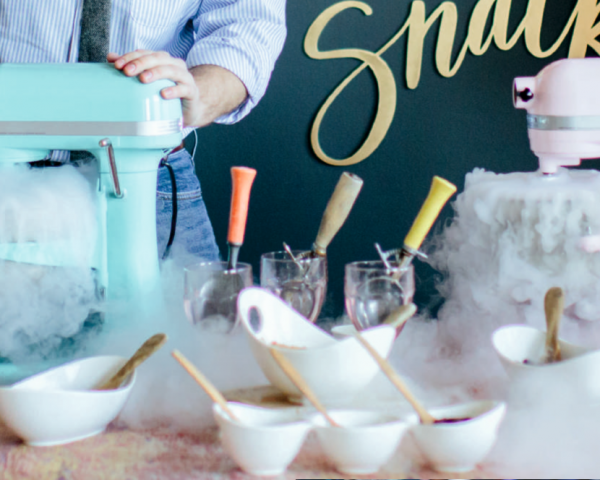 Piccadilly Wedding Ice Cream made with locally sourced ingredients and liquid nitrogen
