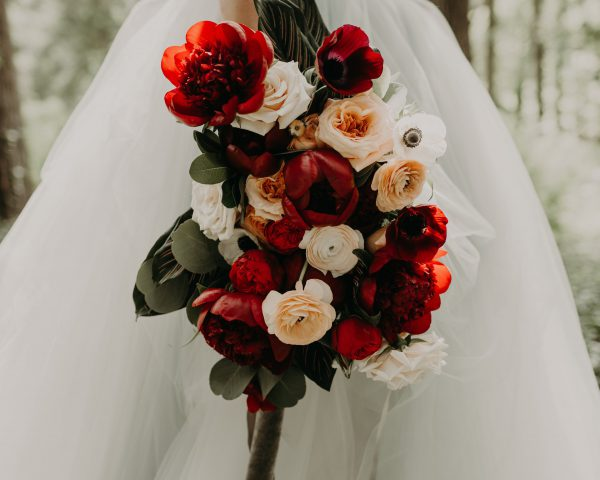 Stunny Modern Moody Bridal Bouquet by Fair Rarity Flowers