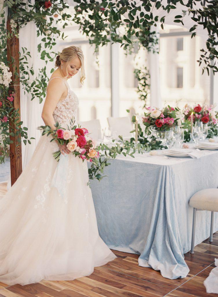 Bride at Head Wedding Table