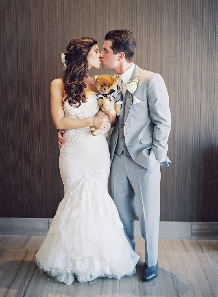 Bride and Groom Pictures with Dogs