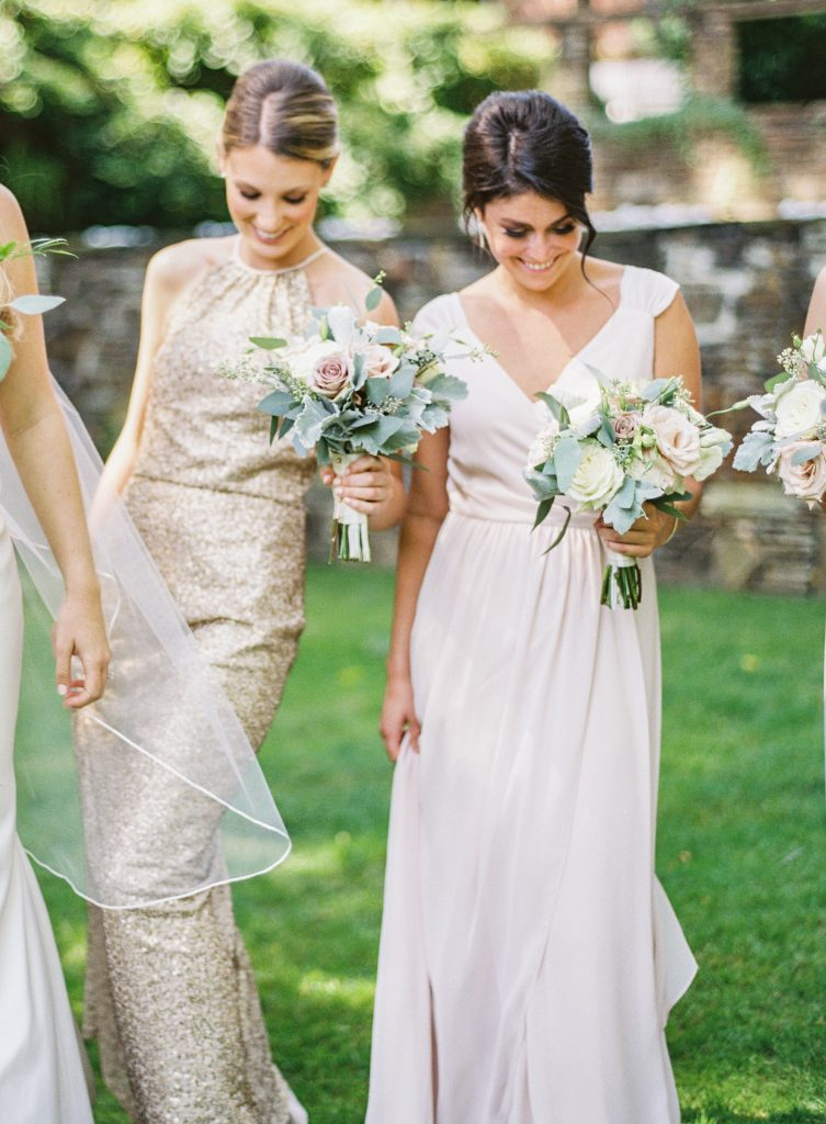 Maid of Honor in White Bridesmaids Dress