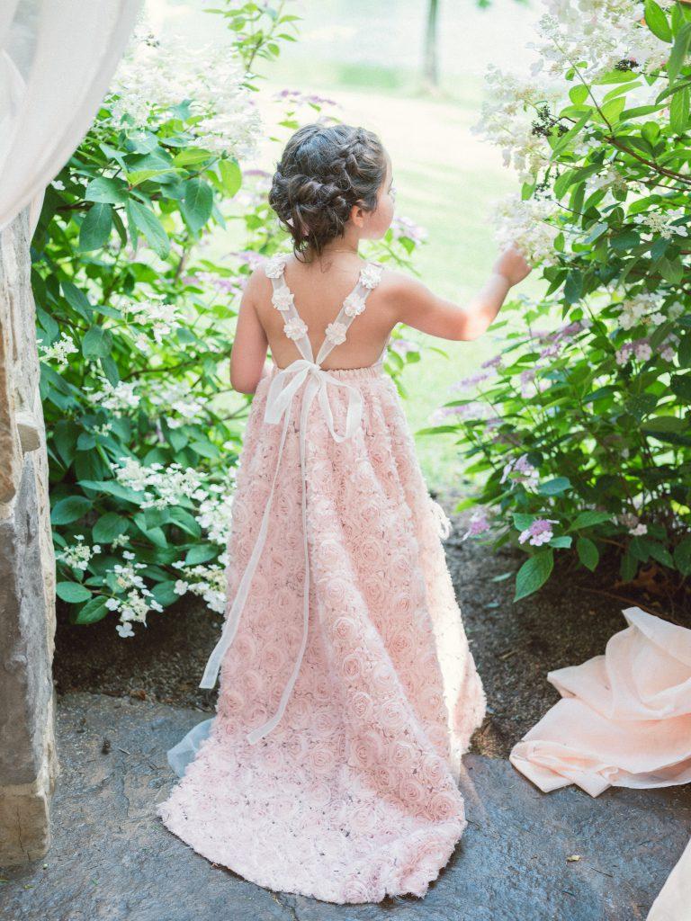 "Flower Girl at Jerry Ferrara ""Turtle"" and Breanne Racono's wedding at the Gervasi Vineyard"
