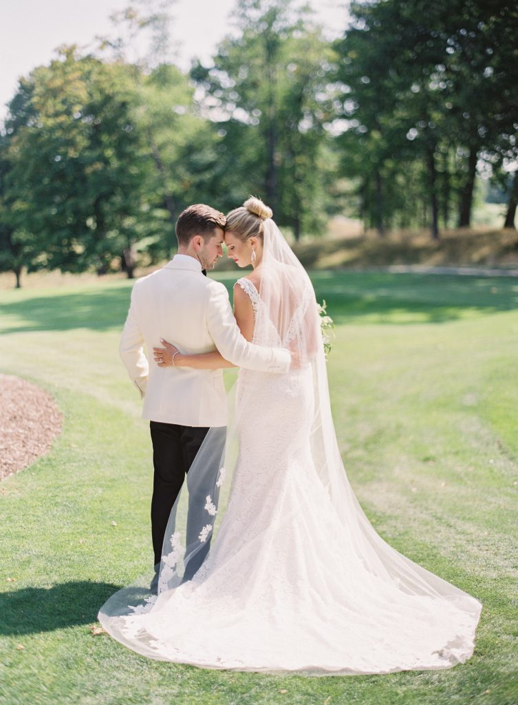 Bride and Groom star into one another's eyes
