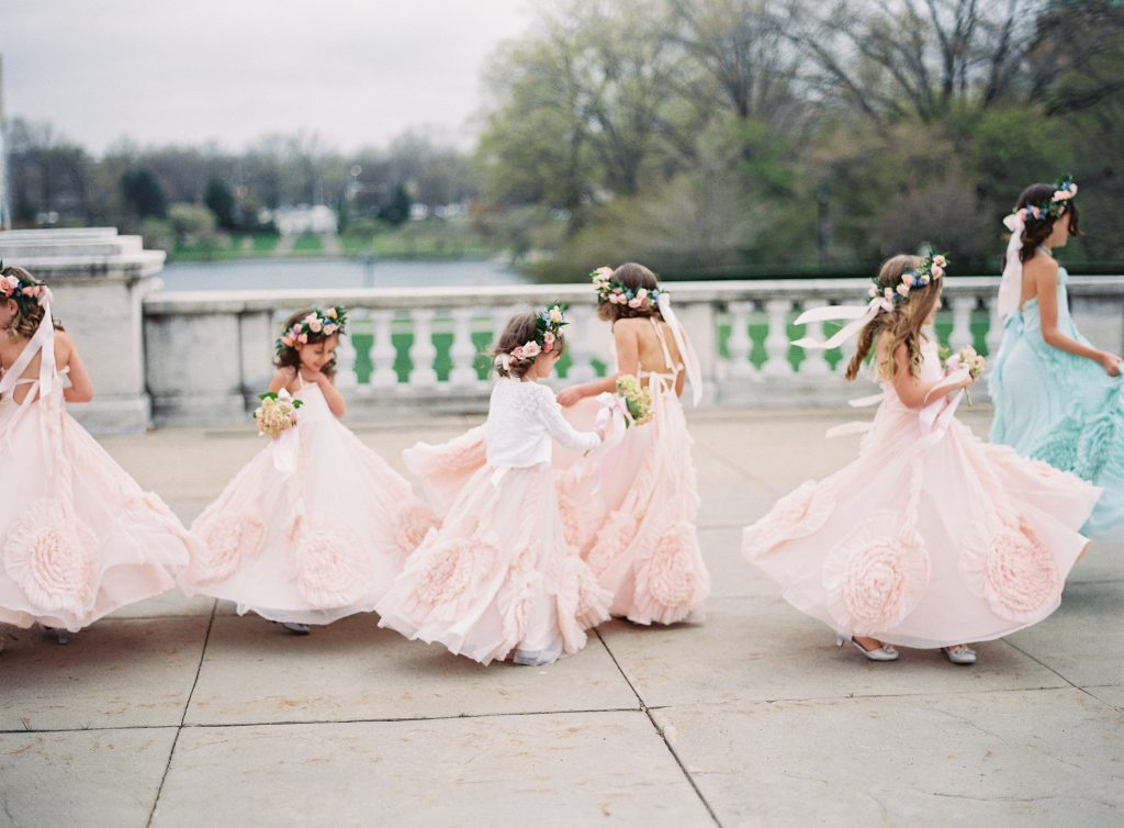 Flower Girls dancing at Cleveland Museum of Art Wedding