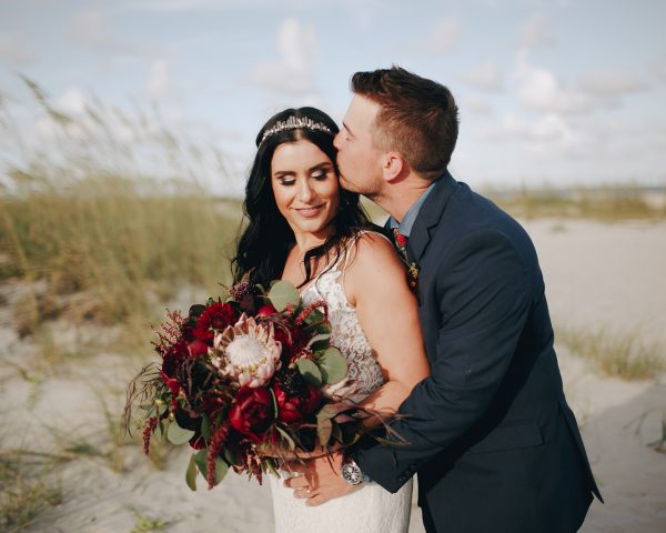 Dark + Moody Beach Wedding