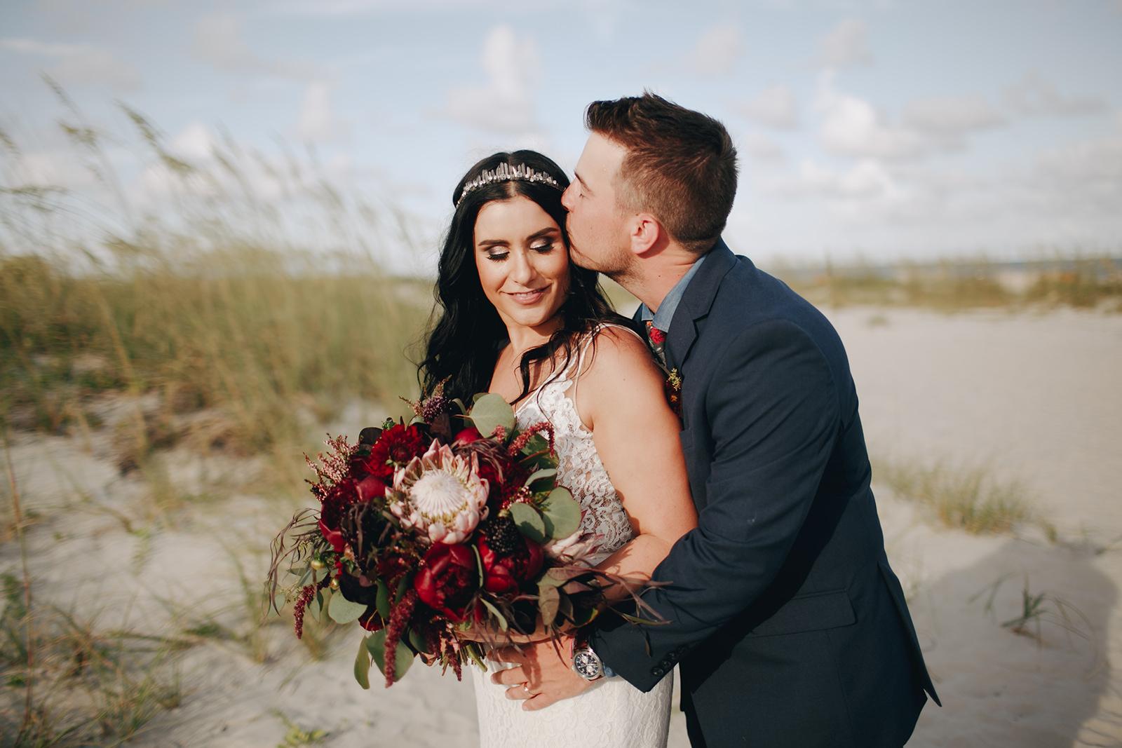 Dark + Moody Beach Wedding