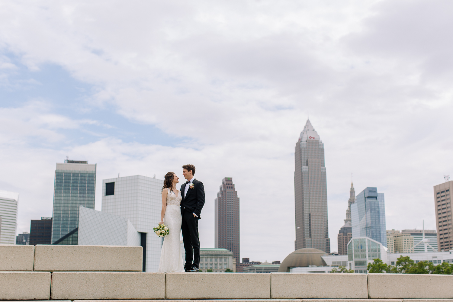 A summer wedding at the Union Club in Downtown Cleveland