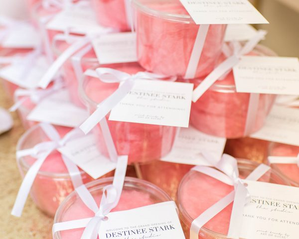 Individually Packaged Pink Cotton Candy Party Favors