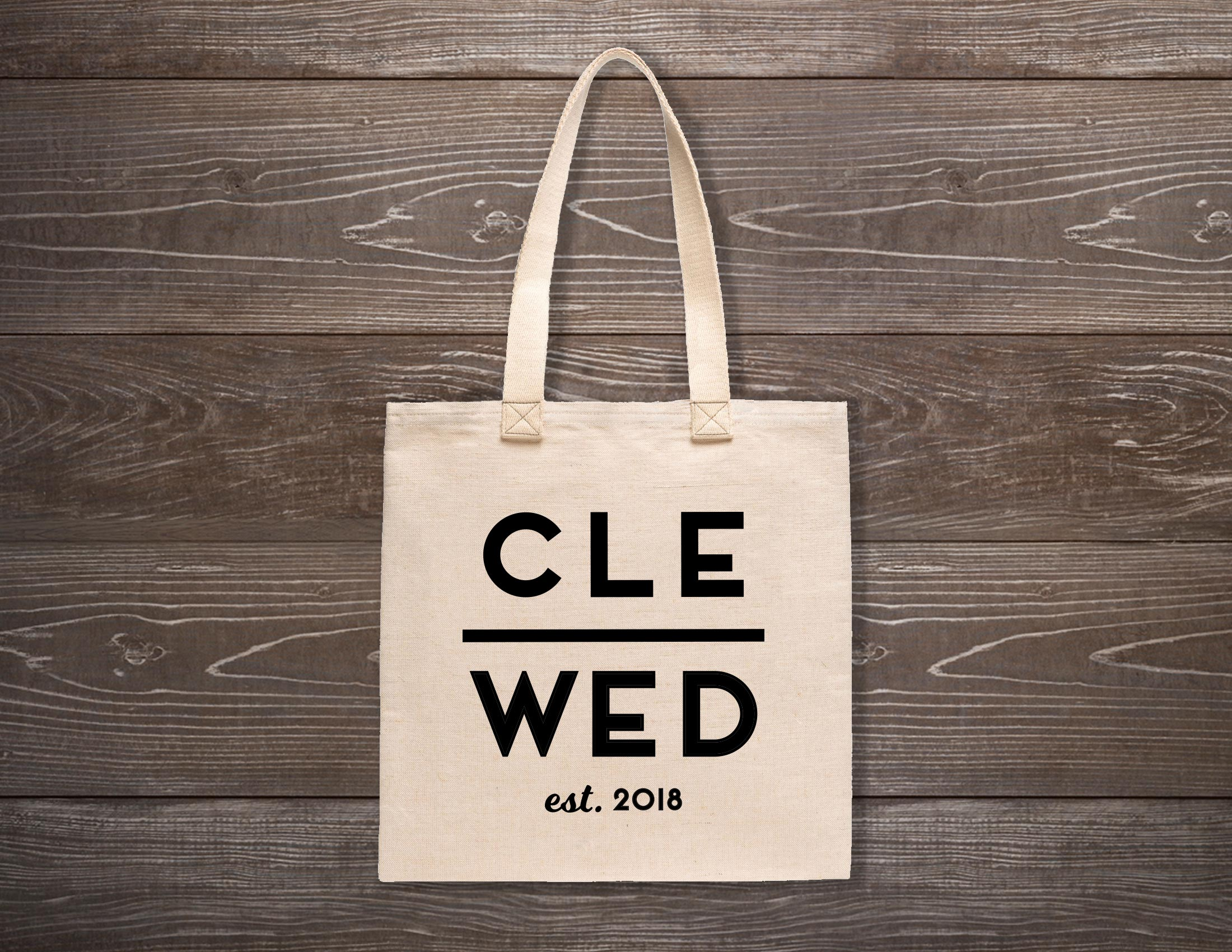 Cle Wed Custom Tote Bag