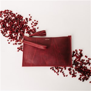 Fount Pomegranate Clutch