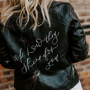 The Blonde Maker Custom Lettered Jacket