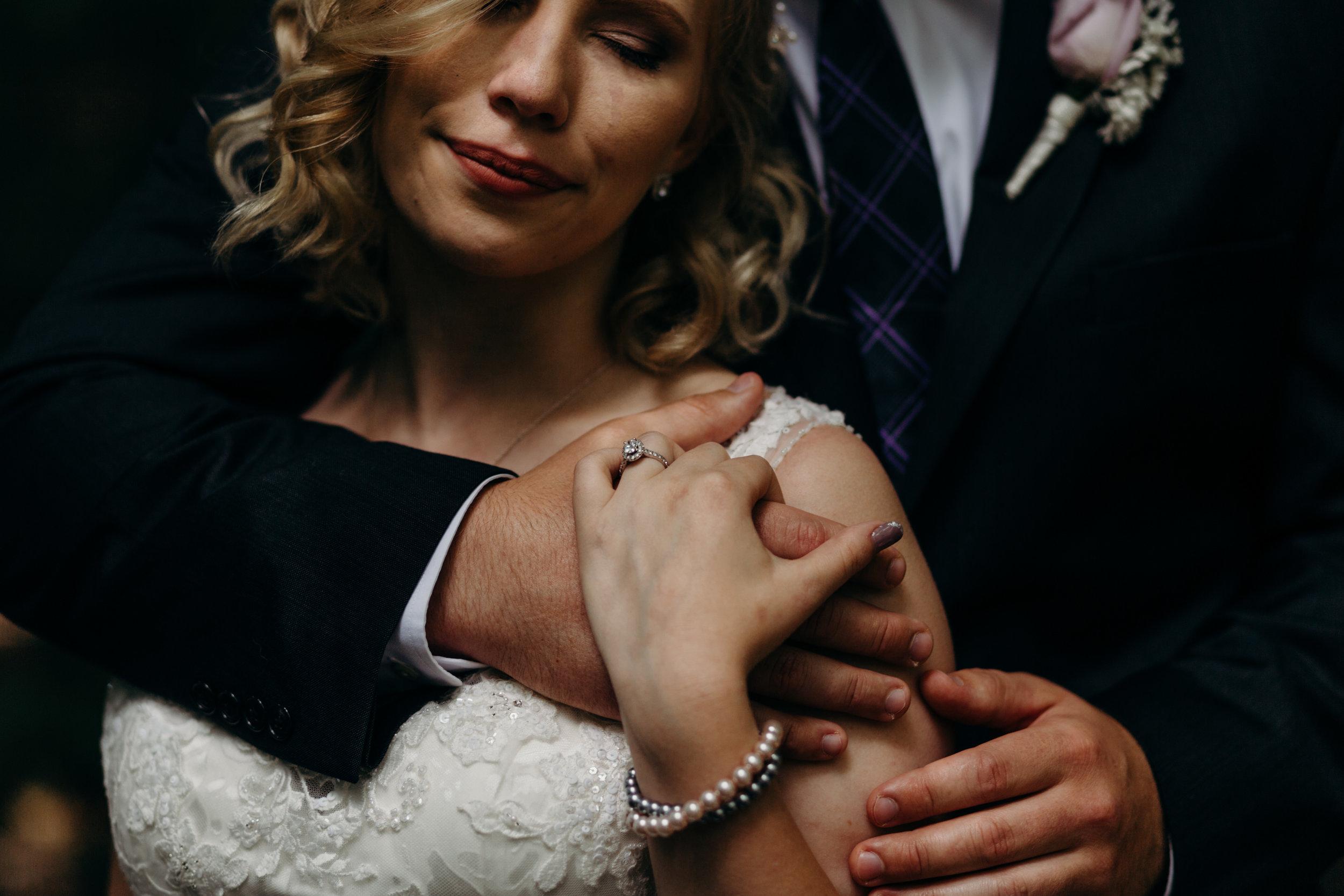 Bride and Groom closeup portrait - Agape Photography