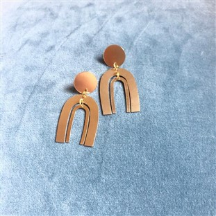 One Story Mini Arc Earrings