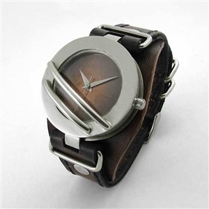 Voyager men's leather and metal watch by The EXCB