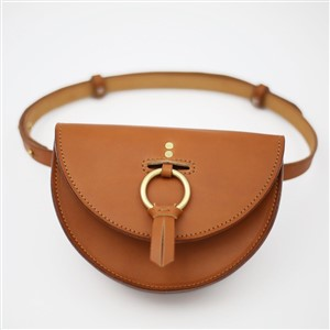Hemlock and Hyde Belted Leather Bag in Tan