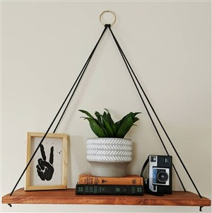 Wooden Hanging Shelf by the Modern Mama