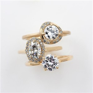Emily Chelsea Jewelry Gold and Diamond Engagement Rings