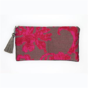 Little Bags. Big Impact Fuscia FLower Print Clutch