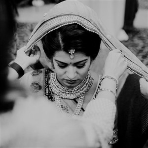 Indian Bride With Love and Embers