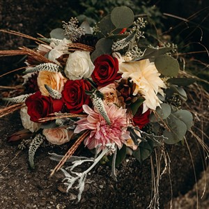 Bridal Bouquet by Diana Elizabeth Designs