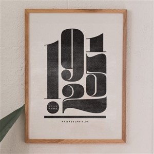 Lynx & Co Fishtown Zipcode Print