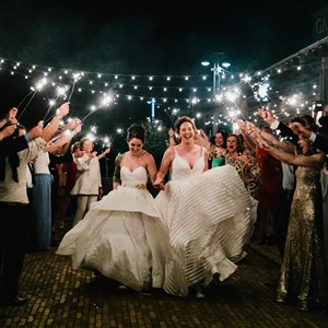 Brides Sparkler Exit Love Me Do Photography