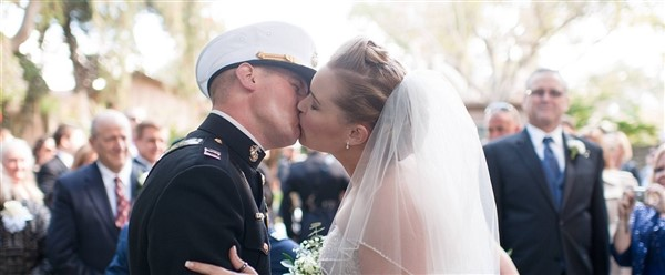 Brides Across America Military Bride and Groom
