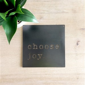 Keystone Steel Co Chose Joy Metal Wall Hanging