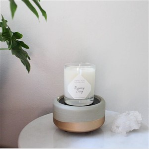 Darling Candles Rainy Day Soy Candle and Warmer