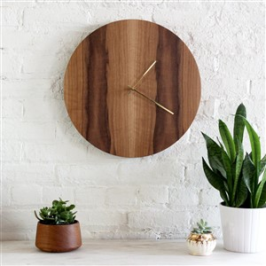 Half and a Third Walnut Wall Clock