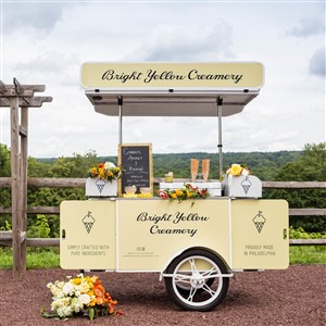 Bright Yellow Creamery Ice Cream Cart