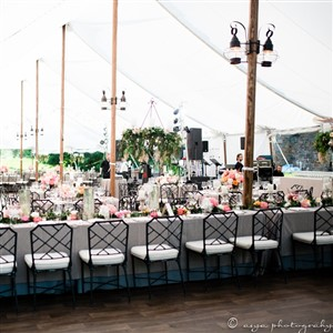 Tent Reception Space by TableArt photo by Asya Photography