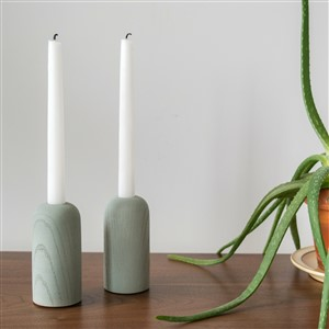 Domenic Fiorello Concrete Candleholders