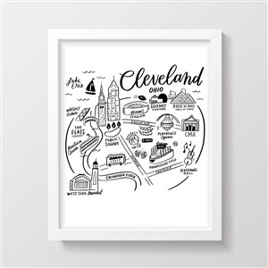 Cleveland Ohio City Print Shore Society