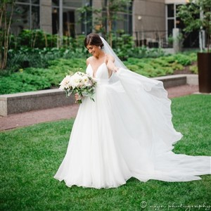 Bride in Lovely Bride Gown