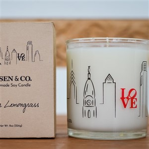 Rosen and Co Philly Love Candle