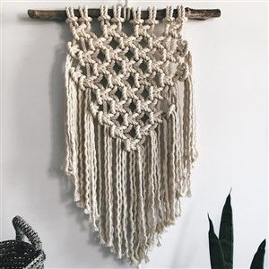 Wilt and Bloom Macrame Wall Hanging