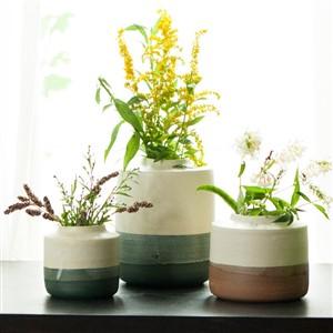 Hewn Pottery Vases