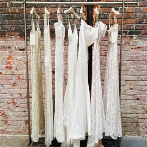 BHLDN Wedding Dresses on a Rack