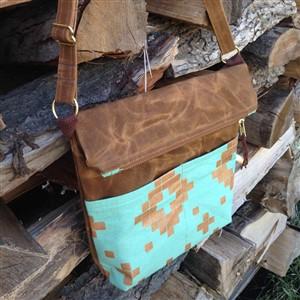 Americauna Handmade Foldover Waxed Canvas Bag